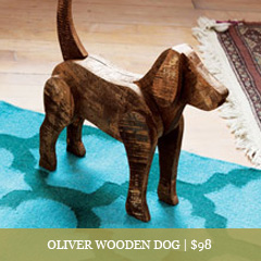 Oliver Wooden Dog