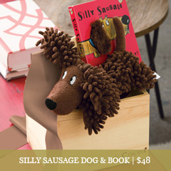 Silly Sausage Dog & Book