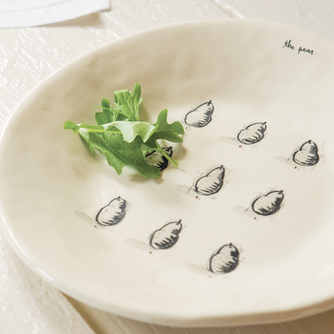 Pear Illustration Platter