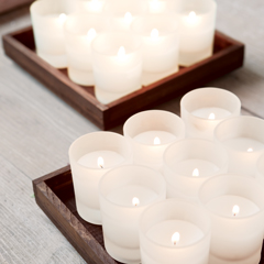 Frosted Votive Trays