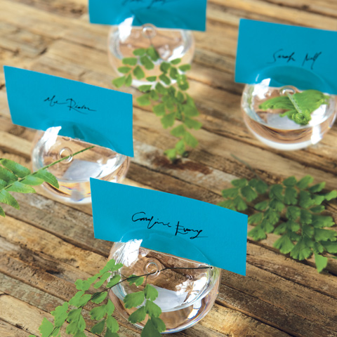Bubble Place Card Holders