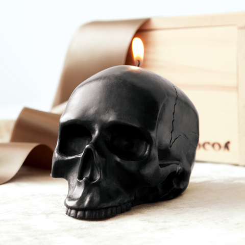 Jasper Skull Candle