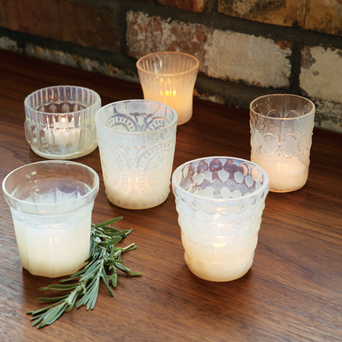 Milk Glass Tealights
