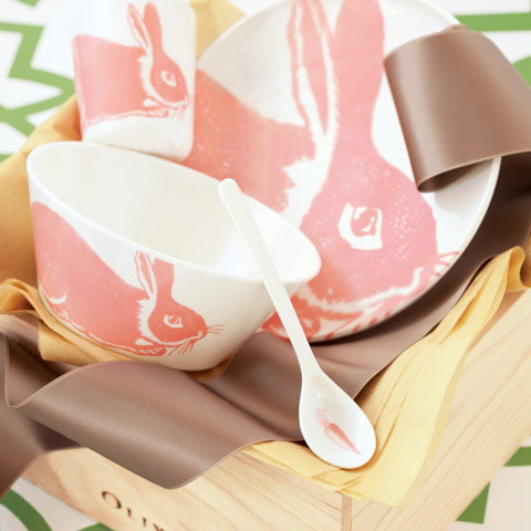 Bunny Rose Dish Set