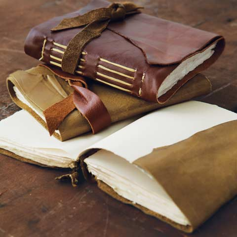 Handmade Leather Wrap Journals