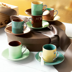 Mocha Mint Demitasse Set