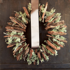Bark & Lichen Moss Wreath