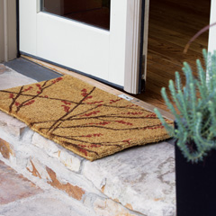 Holly Berry Sprig Doormat