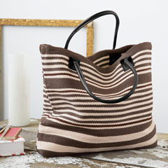 Hemingway Striped Woven Bag