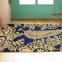 Blue Bird Doormat