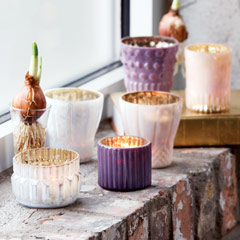 Opalescent Mercury Votives