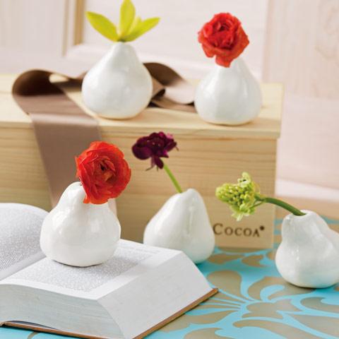 Porcelain Pear Vase