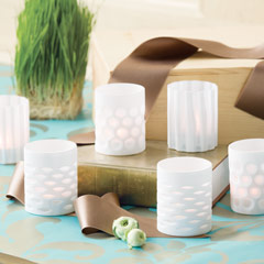 Blanc Votive Holders