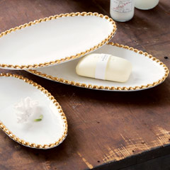 Gold Rimmed Trays