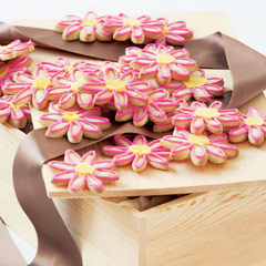 Iced Flower Cookies