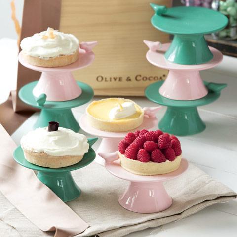 Birdie Dessert Pedestals, Set of 4