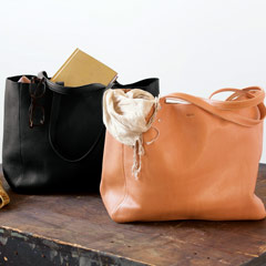 Raw Leather Tote Bags
