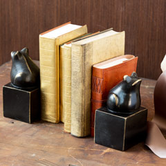 Intelligent Toad Book Ends, Set Of 2
