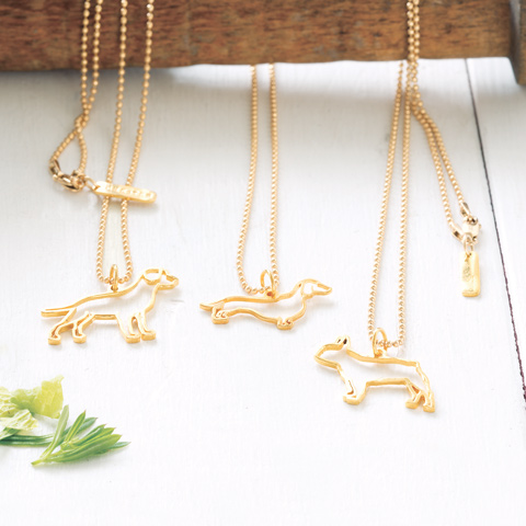Gold Dog Necklace