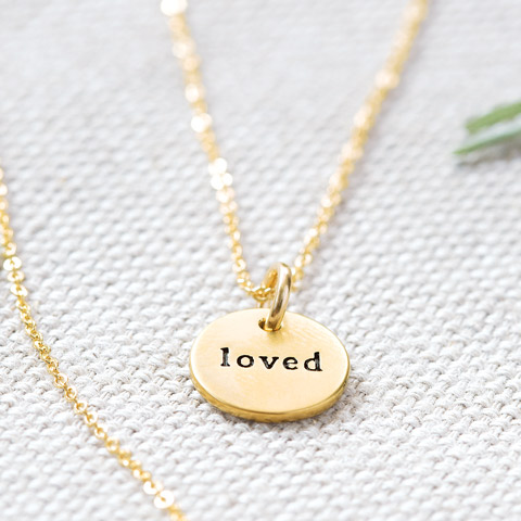 """Loved"" Circle Necklace"