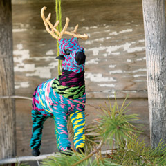 Chindi Reindeer Ornament