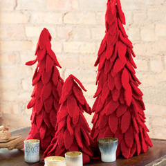 Felted Wool Nesting Trees
