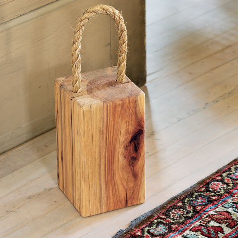 All gifts sale recycled wood doorstop for Door stop idea