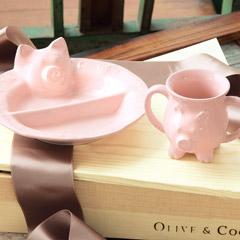 Pig Plate & Mug Set