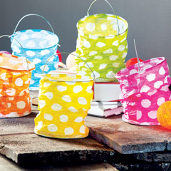 Polka Dot Party Lanterns