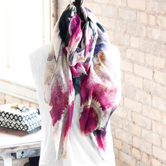 Orchid Blooms Scarf