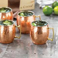 Hammered Copper Moscow Mule Mugs