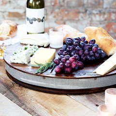 Reclaimed Wine Barrel Lazy Susan