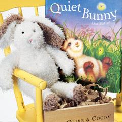 Quiet Bunny Book & Rabbit