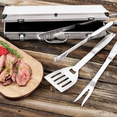 Steel Grilling Tool Set