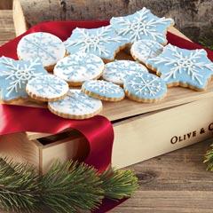 Snowfall Iced Cookies