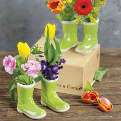Spring Green Rainboot Vases