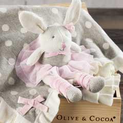 Ballerina Bunny & Ruffled Blanket