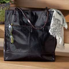 Noir Essential Leather Tote